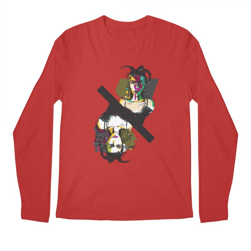 Black Joker Men's Regular Longsleeve T-Shirt by rimadi's Artist Shop