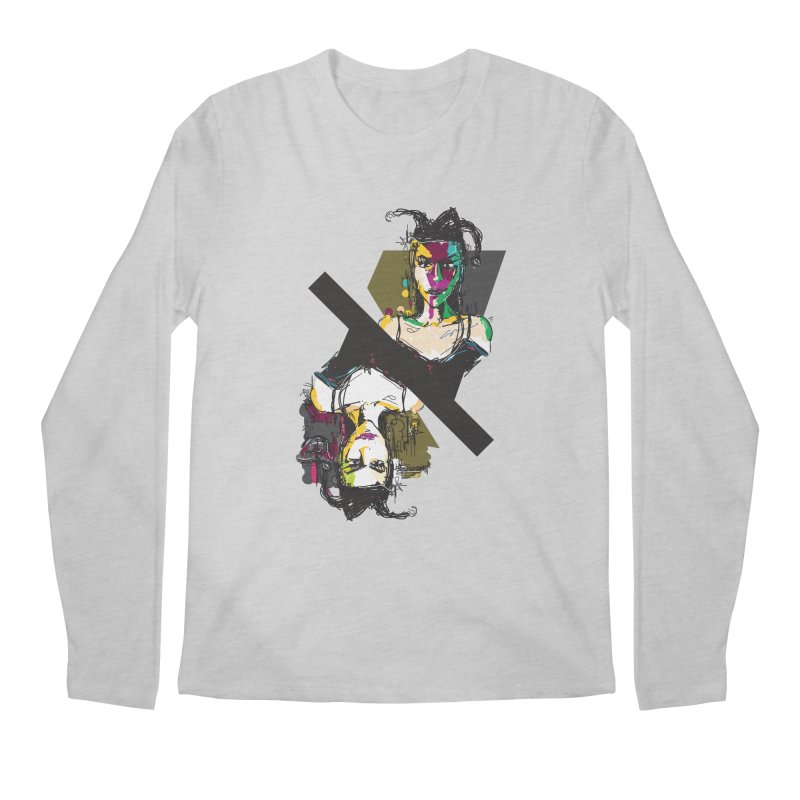 Black Joker Men's Regular Longsleeve T-Shirt by rimadi's Artist Shop