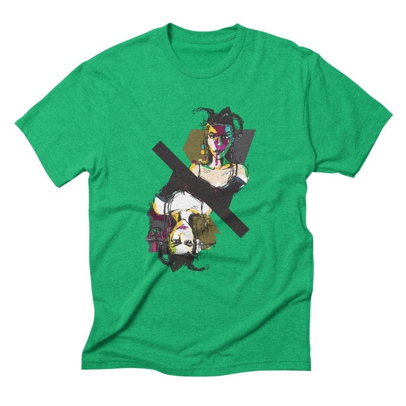 Black Joker Men's Triblend T-Shirt by rimadi's Artist Shop