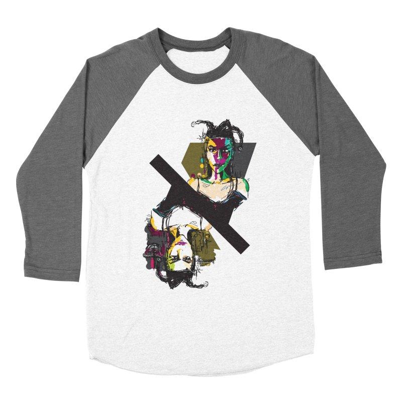 Black Joker Women's Baseball Triblend Longsleeve T-Shirt by rimadi's Artist Shop