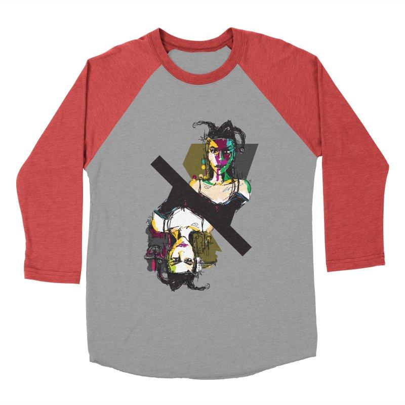 Black Joker Women's Baseball Triblend T-Shirt by rimadi's Artist Shop