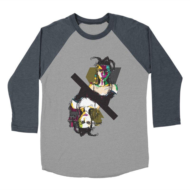 Black Joker Men's Baseball Triblend Longsleeve T-Shirt by rimadi's Artist Shop