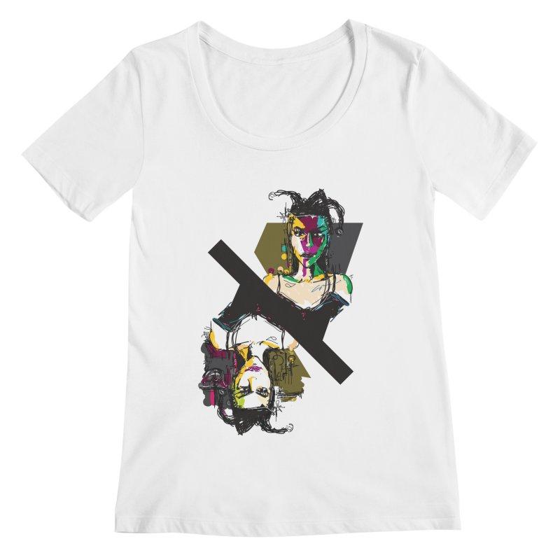 Black Joker Women's Scoopneck by rimadi's Artist Shop