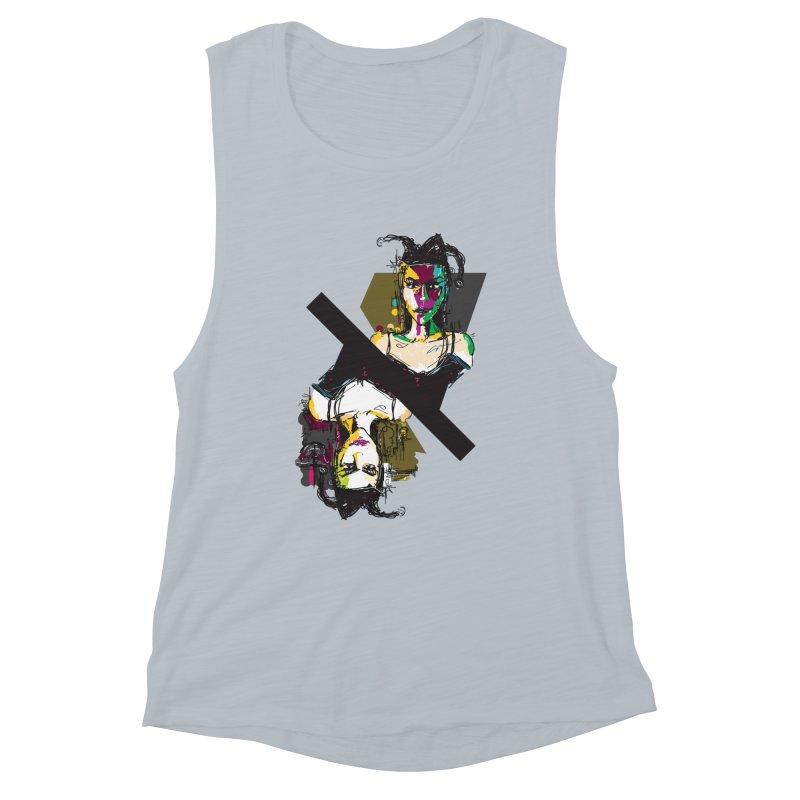 Black Joker Women's Muscle Tank by rimadi's Artist Shop