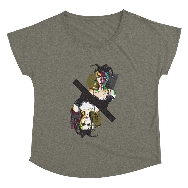 Black Joker Women's Dolman Scoop Neck by rimadi's Artist Shop