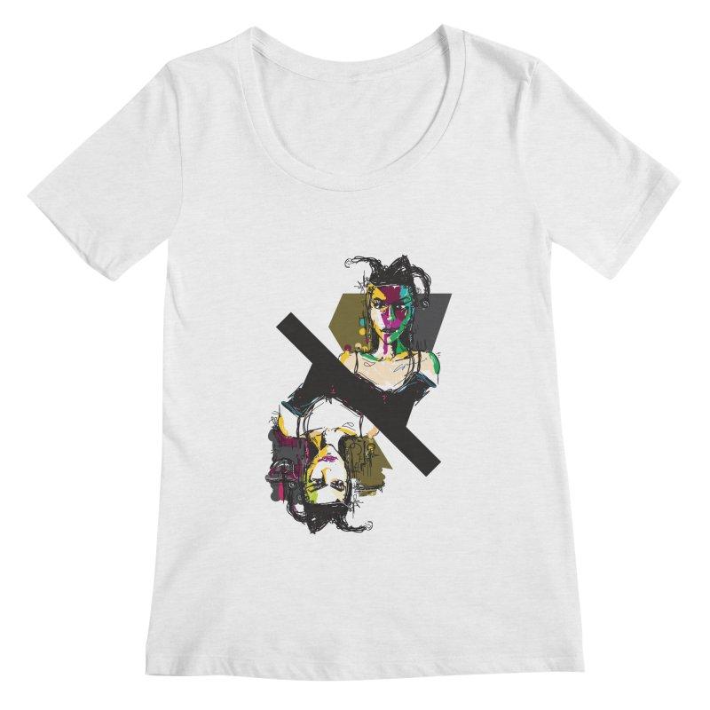 Black Joker Women's Regular Scoop Neck by rimadi's Artist Shop