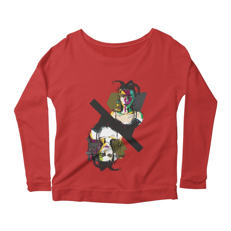 Black Joker Women's Scoop Neck Longsleeve T-Shirt by rimadi's Artist Shop