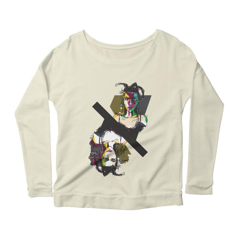 Black Joker Women's Scoop Neck Longsleeve T-Shirt by rimadi's Artist Shop