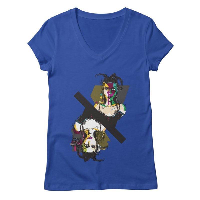 Black Joker Women's Regular V-Neck by rimadi's Artist Shop