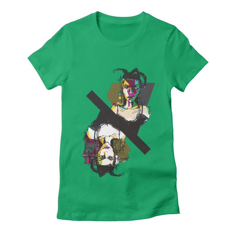 Black Joker Women's Fitted T-Shirt by rimadi's Artist Shop