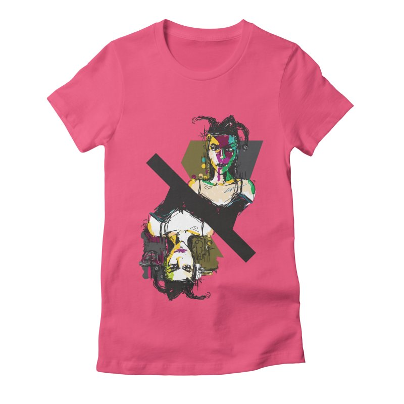 Black Joker Women's Fitted T-Shirt by rimadi's Artist Shop