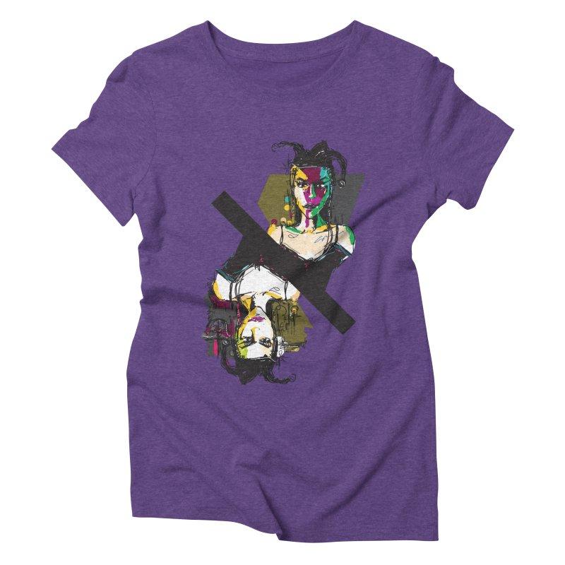 Black Joker Women's Triblend T-Shirt by rimadi's Artist Shop