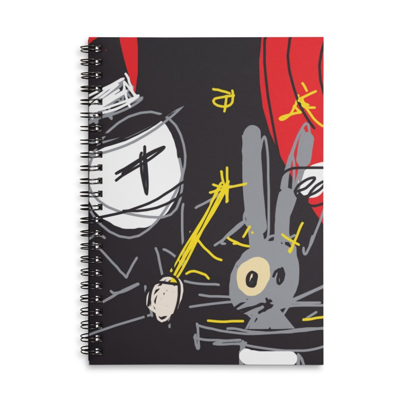 Magic Trick Accessories Lined Spiral Notebook by rimadi's Artist Shop