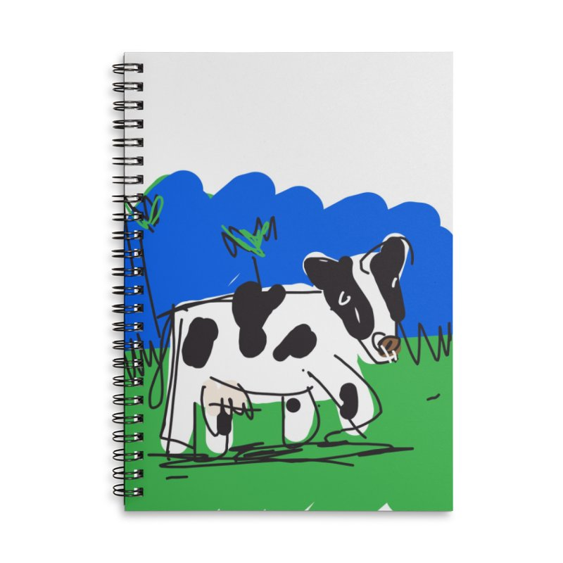 Cow Accessories Lined Spiral Notebook by rimadi's Artist Shop