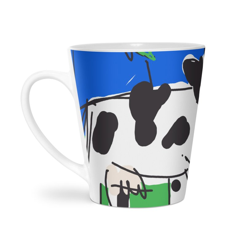 Cow Accessories Latte Mug by rimadi's Artist Shop