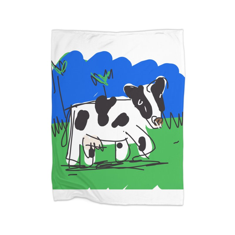Cow Home Blanket by rimadi's Artist Shop