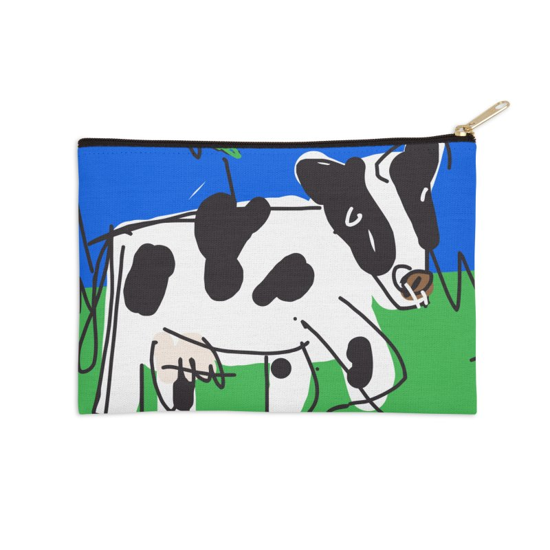 Cow Accessories Zip Pouch by rimadi's Artist Shop