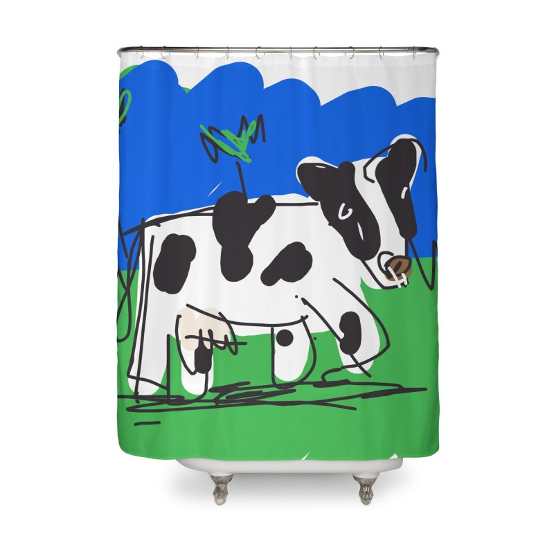 Cow Home Shower Curtain by rimadi's Artist Shop