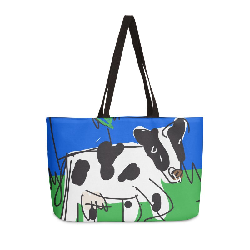 Cow Accessories Weekender Bag Bag by rimadi's Artist Shop