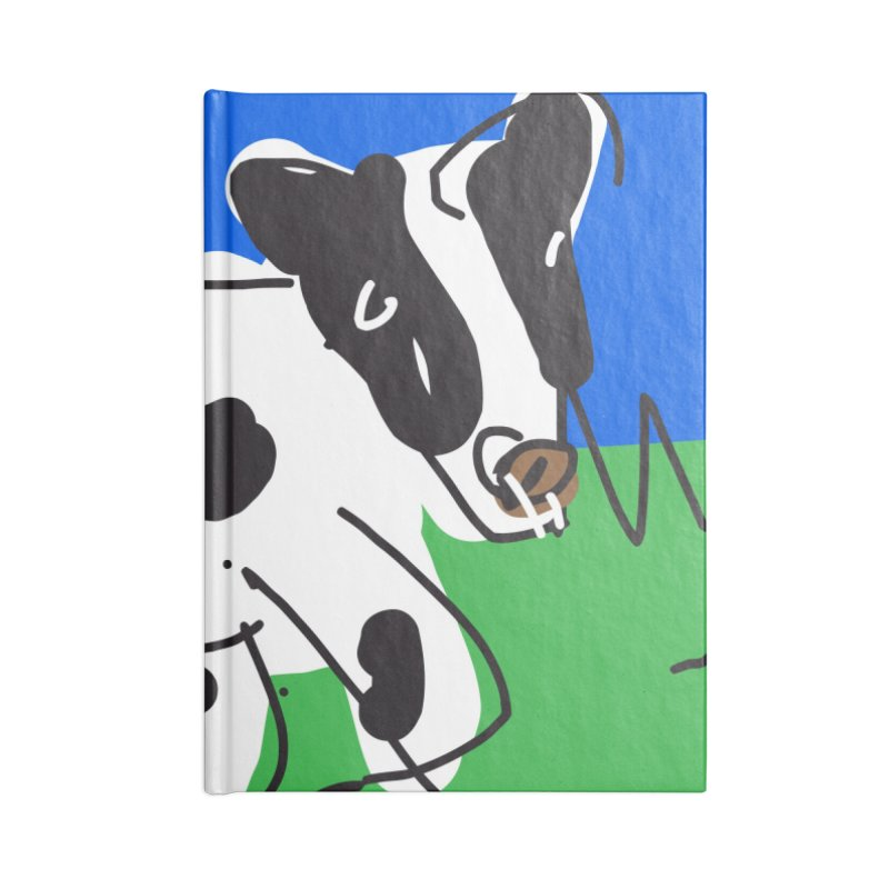 Cow Accessories Blank Journal Notebook by rimadi's Artist Shop