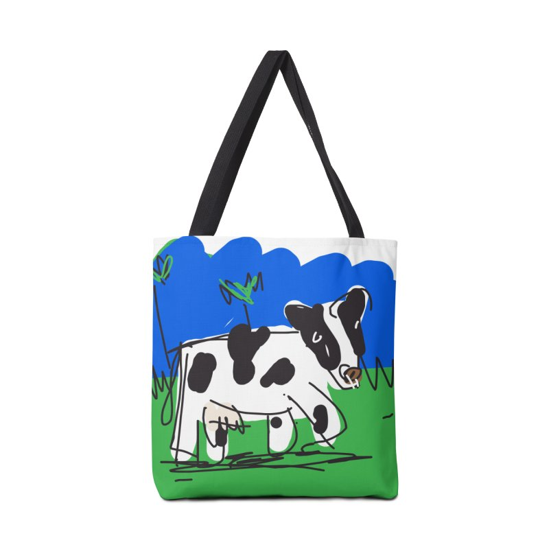 Cow Accessories Tote Bag Bag by rimadi's Artist Shop