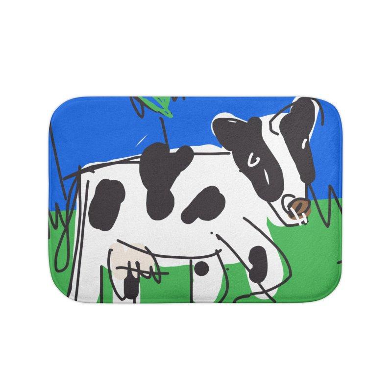 Cow Home Bath Mat by rimadi's Artist Shop