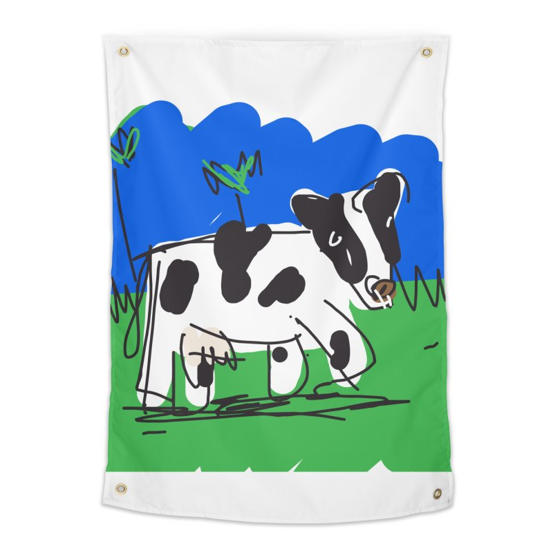 Cow Home Tapestry by rimadi's Artist Shop