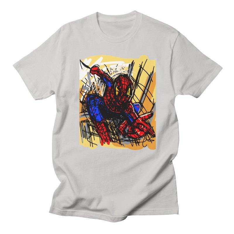 Spidey Men's French Terry Sweatshirt by rimadi's Artist Shop