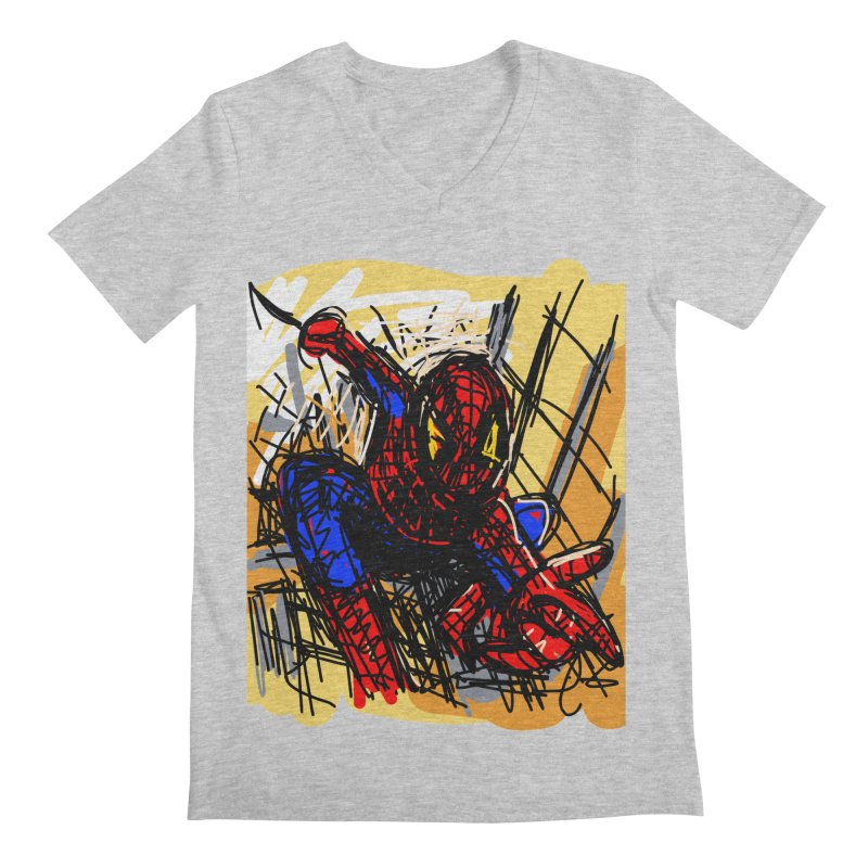 Spidey Men's Regular V-Neck by rimadi's Artist Shop
