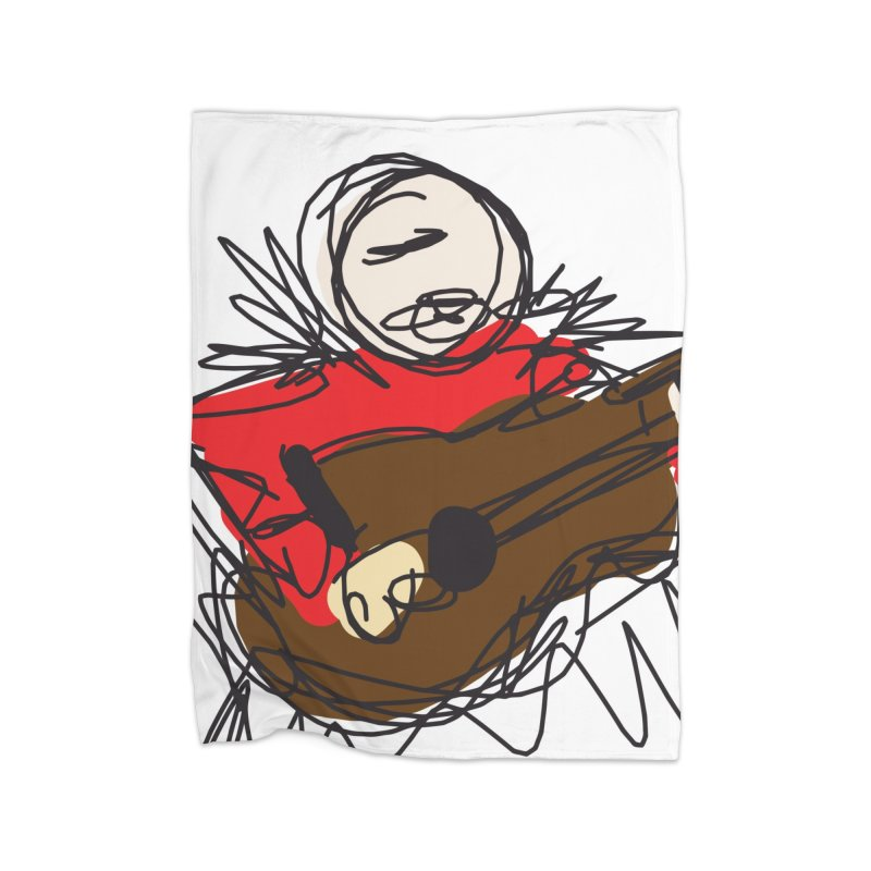 Guitar solo Home Blanket by rimadi's Artist Shop