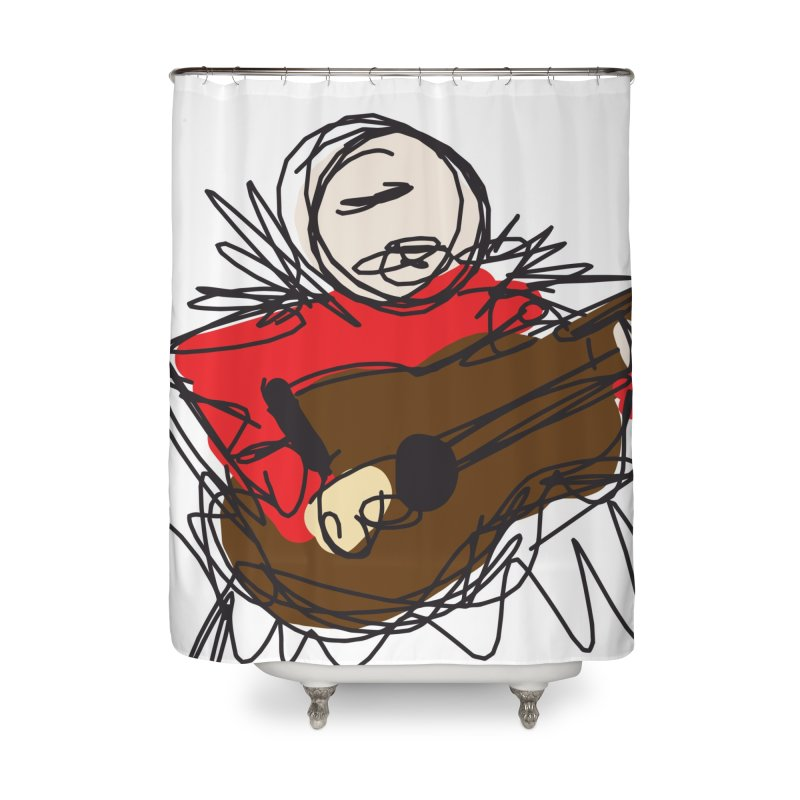Guitar solo Home Shower Curtain by rimadi's Artist Shop