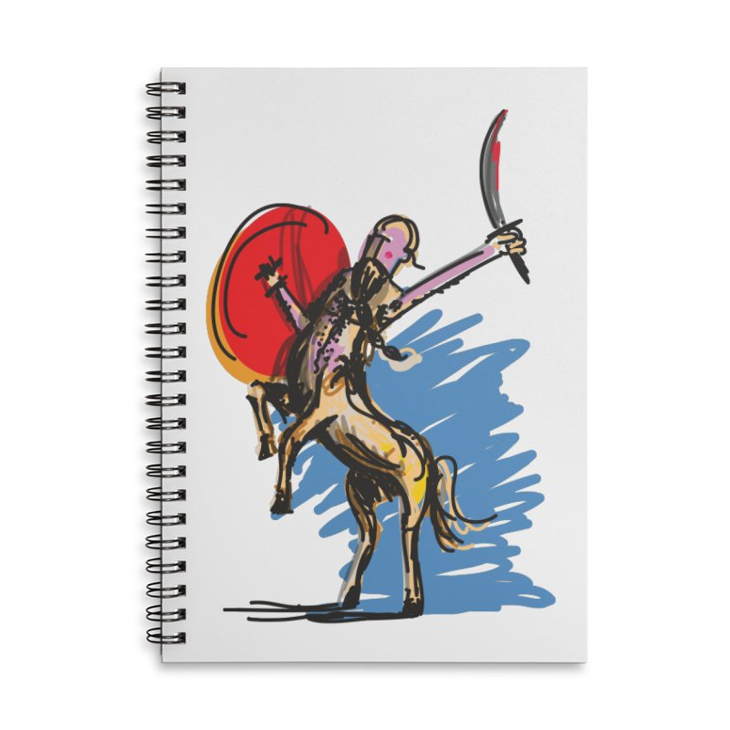Centaur Accessories Lined Spiral Notebook by rimadi's Artist Shop