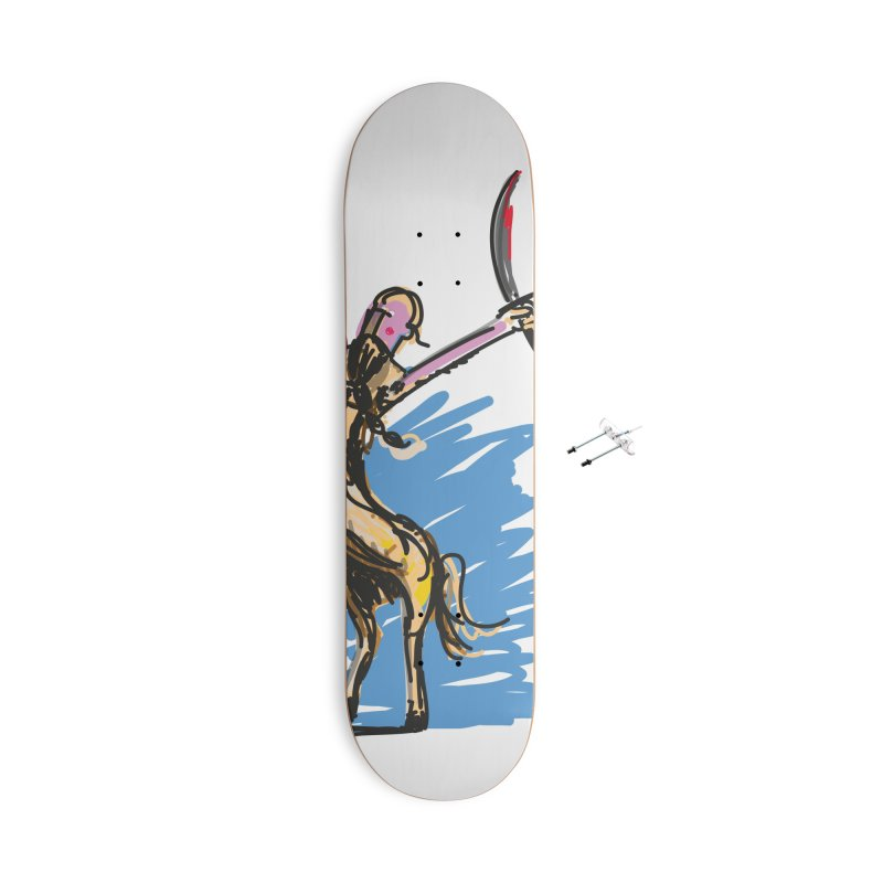Centaur Accessories With Hanging Hardware Skateboard by rimadi's Artist Shop