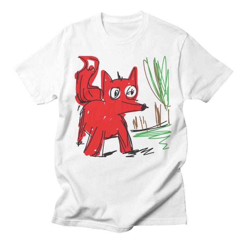 Fox Men's French Terry Sweatshirt by rimadi's Artist Shop
