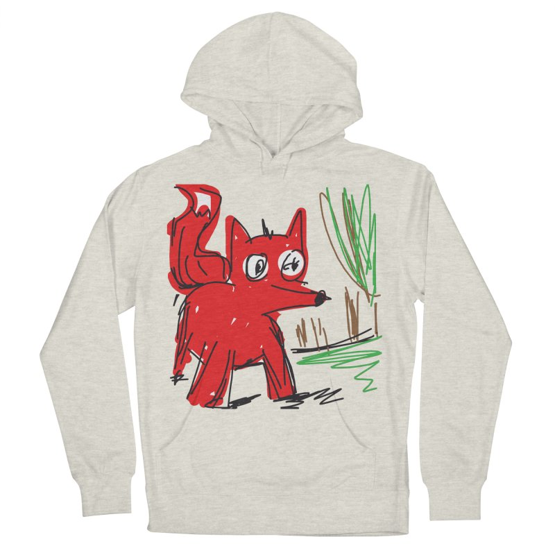 Fox Women's French Terry Pullover Hoody by rimadi's Artist Shop