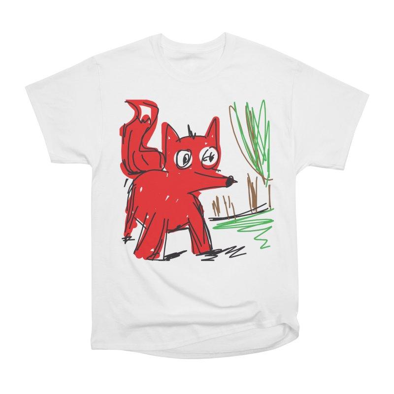 Fox Men's Heavyweight T-Shirt by rimadi's Artist Shop