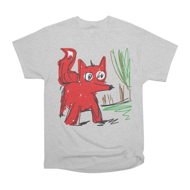 Fox Men's Heavyweight T-Shirt by rimadi's Artist Shop