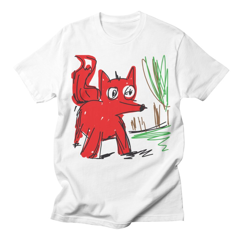 Fox Men's French Terry Sweatshirt by rimadi's Artist Shop