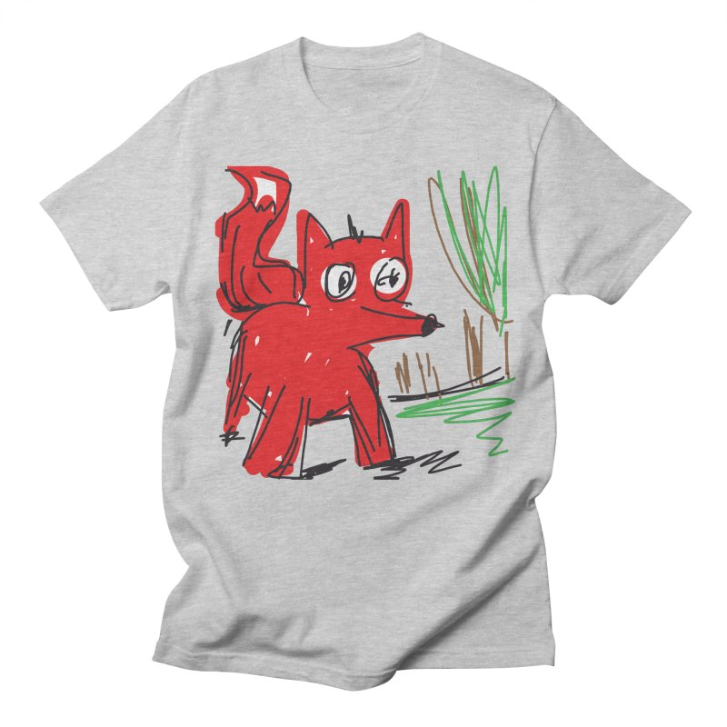 Fox Men's T-Shirt by rimadi's Artist Shop
