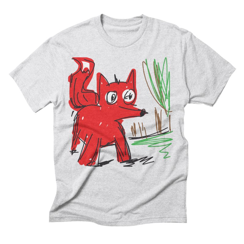 Fox Men's Triblend T-Shirt by rimadi's Artist Shop