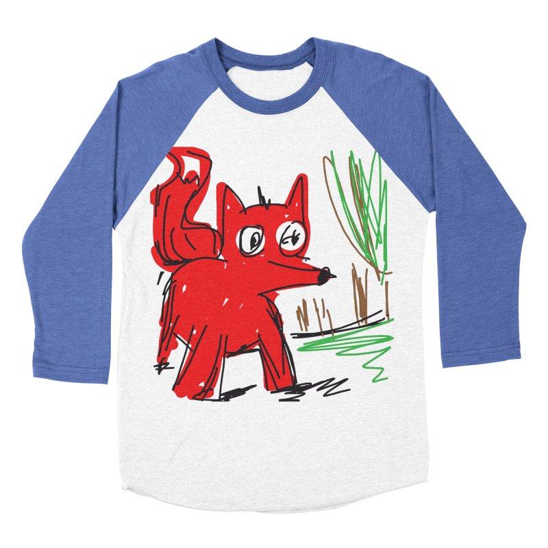 Fox Women's Baseball Triblend Longsleeve T-Shirt by rimadi's Artist Shop