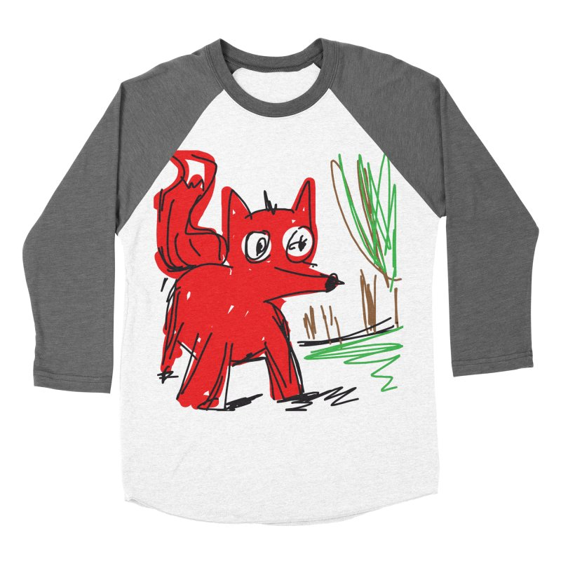 Fox Women's Baseball Triblend T-Shirt by rimadi's Artist Shop