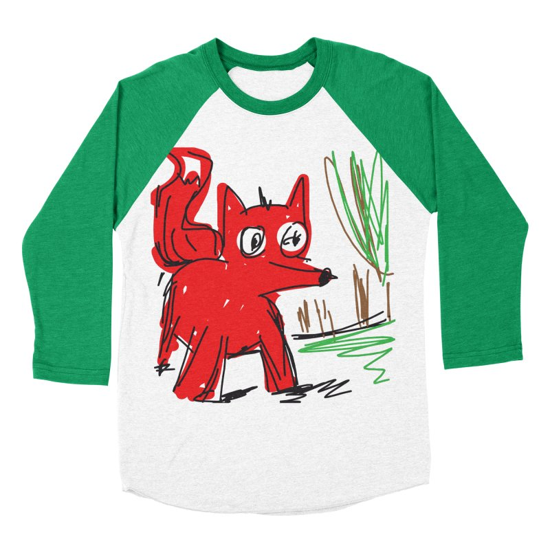 Fox Women's Baseball Triblend Longsleeve T-Shirt by rimadi's Artist Shop