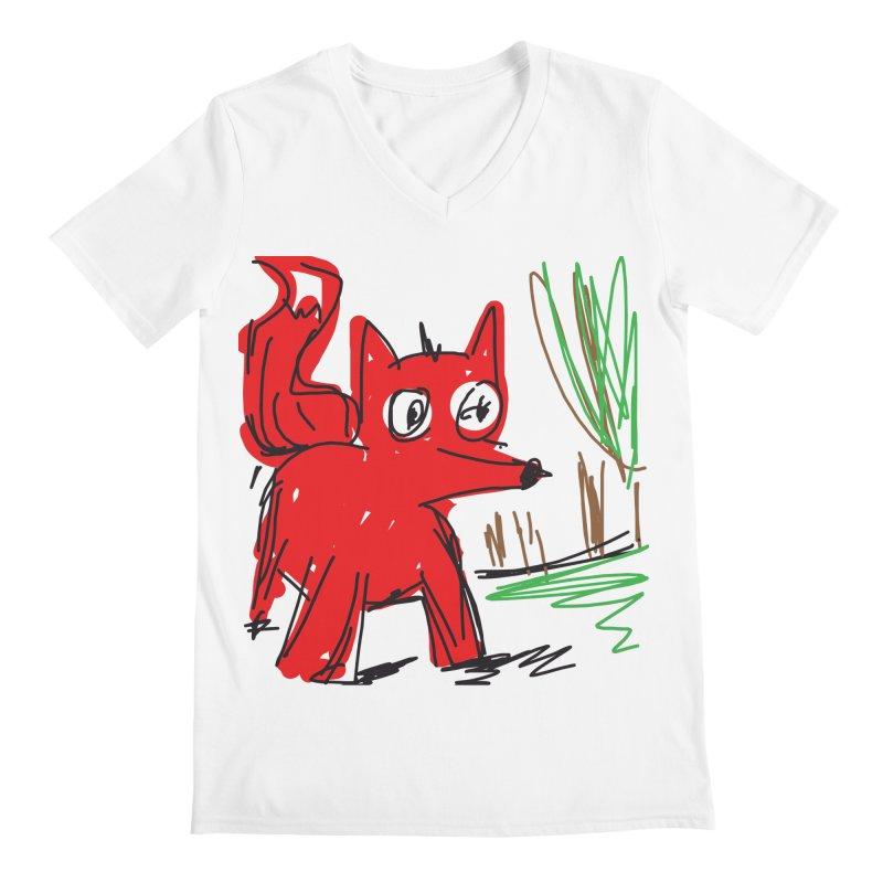 Fox Men's Regular V-Neck by rimadi's Artist Shop