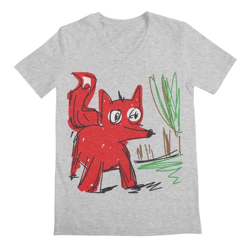 Fox Men's Regular V-Neck by rimadi's Artist Shop