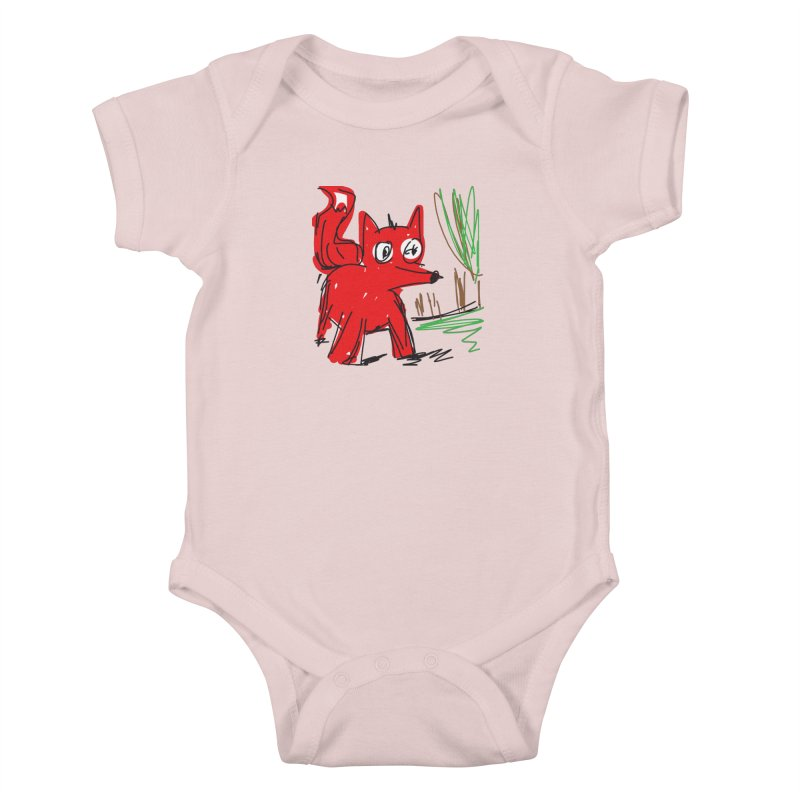 Fox Kids Baby Bodysuit by rimadi's Artist Shop