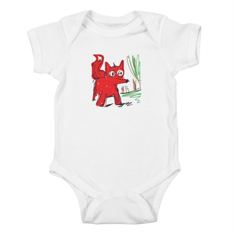 Fox Kids Baby Bodysuit by rimadi's Artist Shop