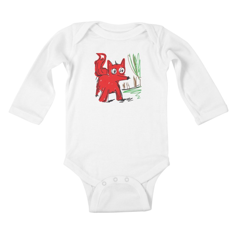 Fox Kids Baby Longsleeve Bodysuit by rimadi's Artist Shop