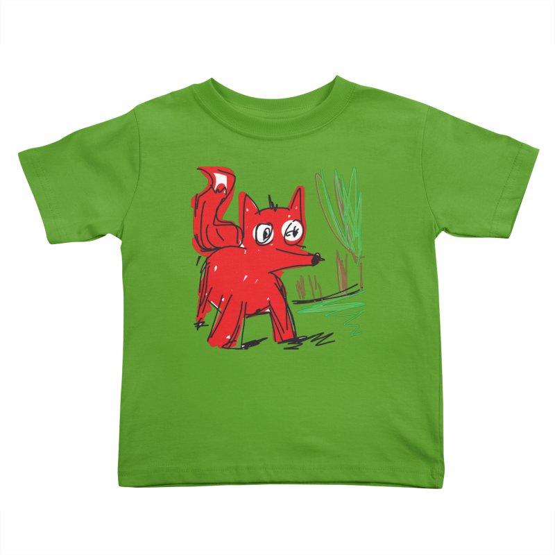 Fox Kids Toddler T-Shirt by rimadi's Artist Shop