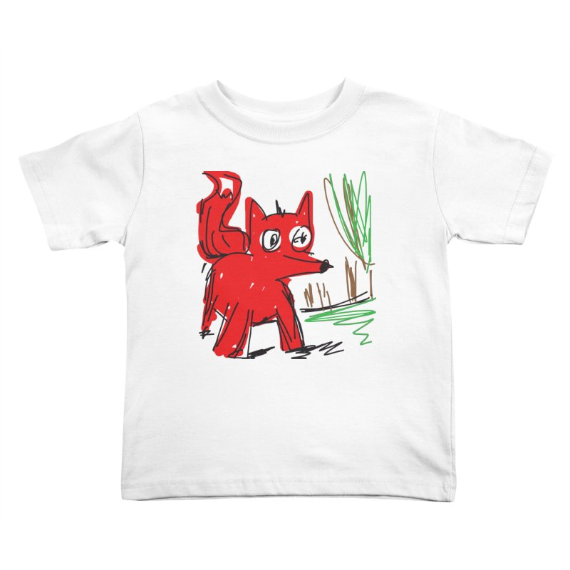 Fox Kids Toddler T-Shirt by rimadi's Artist Shop